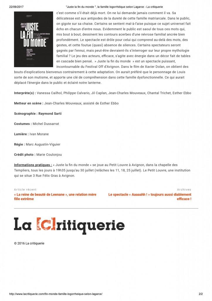 La critiquerie - Page 2